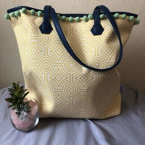 Jonathan Adler and Clinique Pom Fringe Tote 13x15